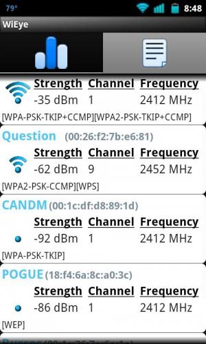 WiEye WiFi scanner