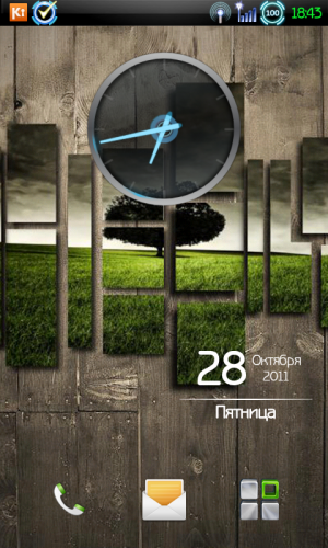 Ice Cream Sandwich Clock Виджет