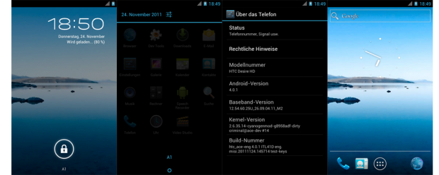 Android 4.0 Ice Cream Sandwich на HTC Desire HD