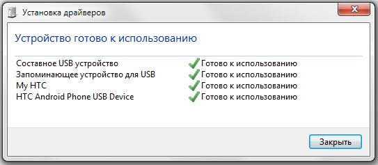 Драйвера HTC Sync