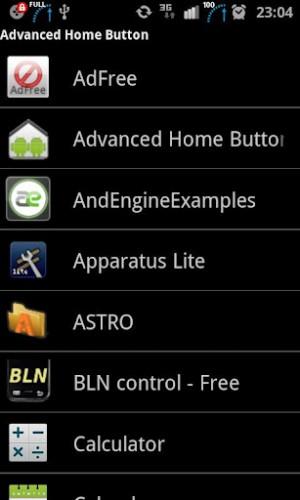 Advanced Home Button - быстрый запуск android приложения