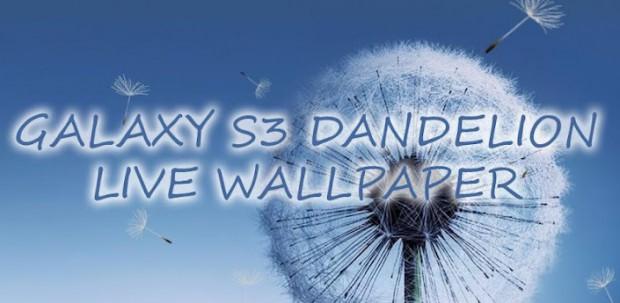 Живые обои Galaxy S3 Dandelion LWP