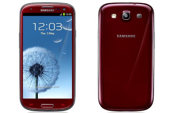 Samsung GALAXY S III красный