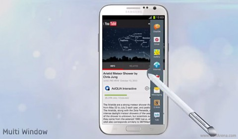 Multi-Window в Samsung Galaxy Note II