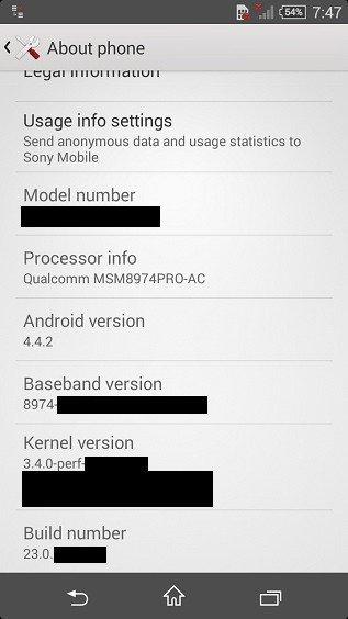 Технические характеристики новинки Xperia Z3 Compact