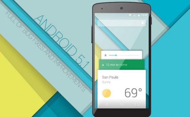 Google nexus 5 обновился до Android 5.1
